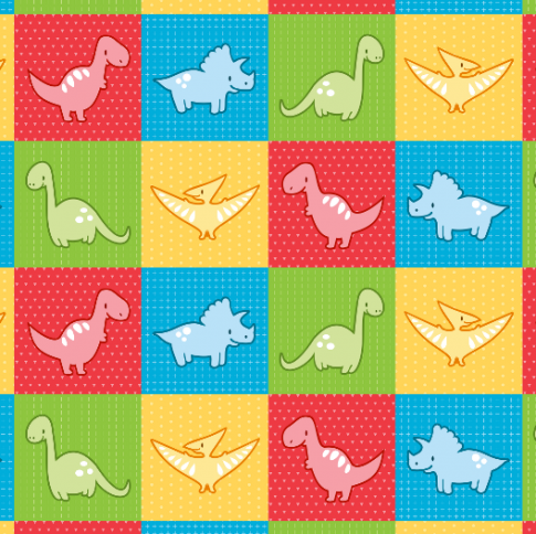 dinosaurs cheater quilt