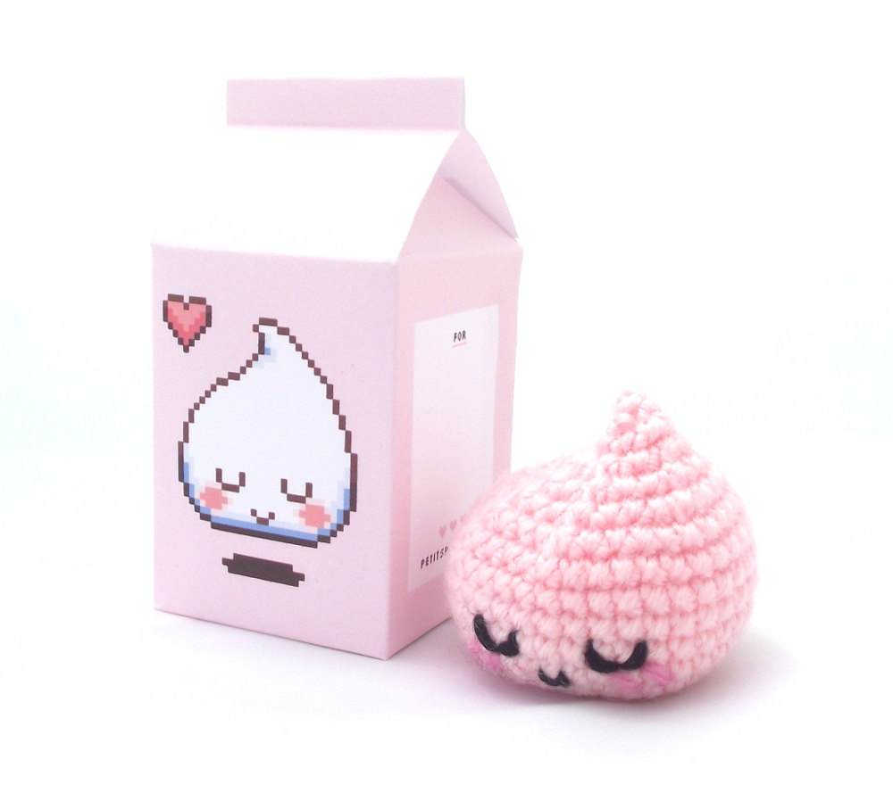 gwenn amigurumi milk drop pink