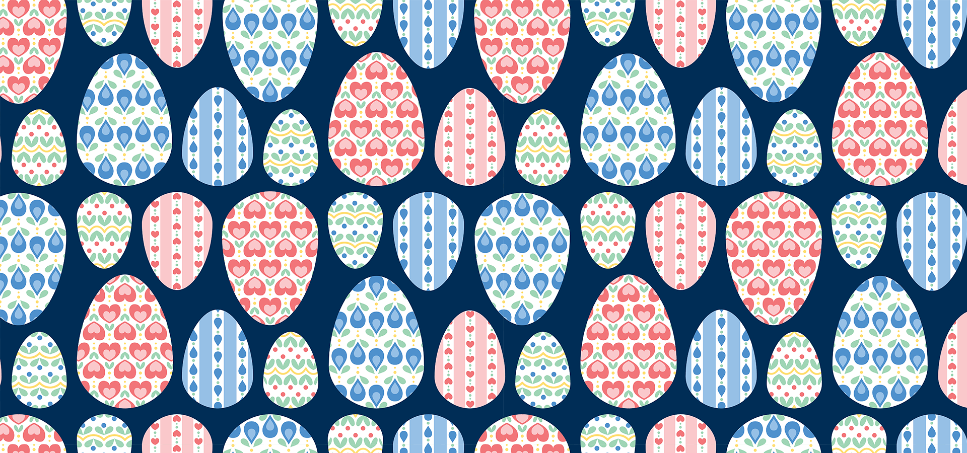 painted eggs pattern