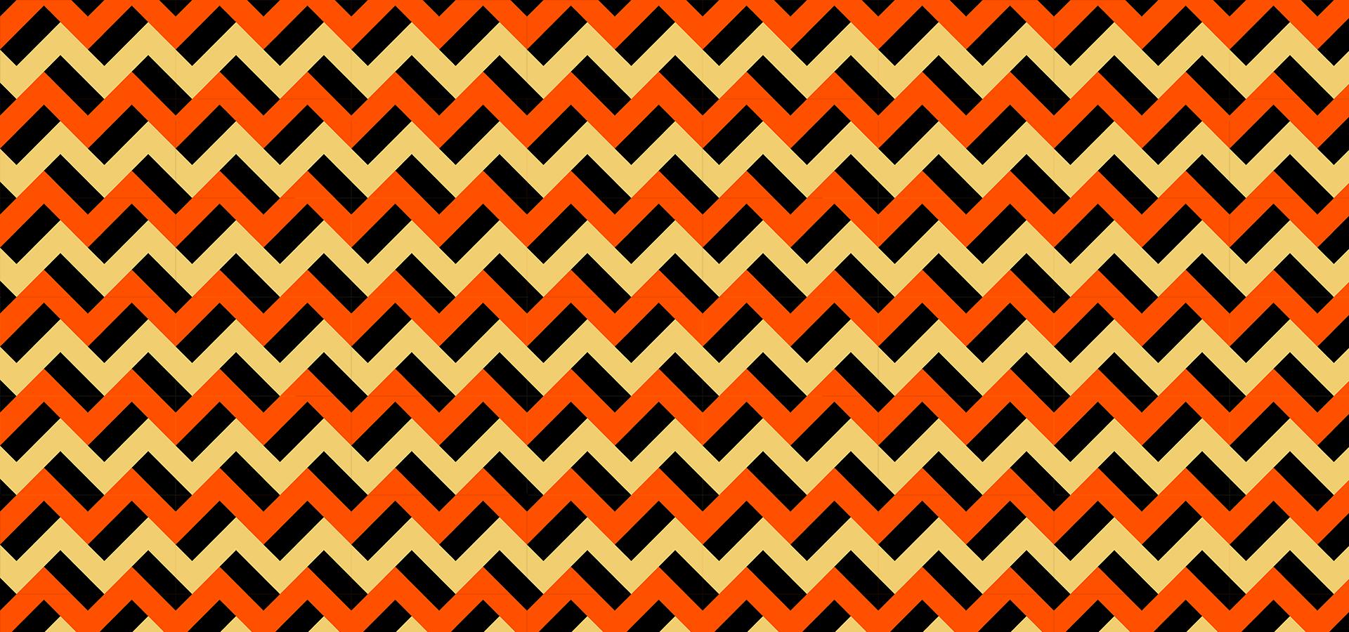 motif zigzags citrouillesques