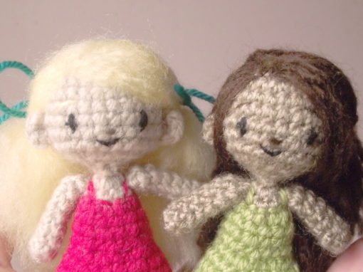 Sidonie the tiny crochet doll