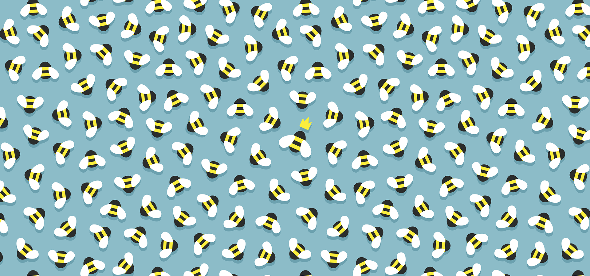 swarm bees queen pattern