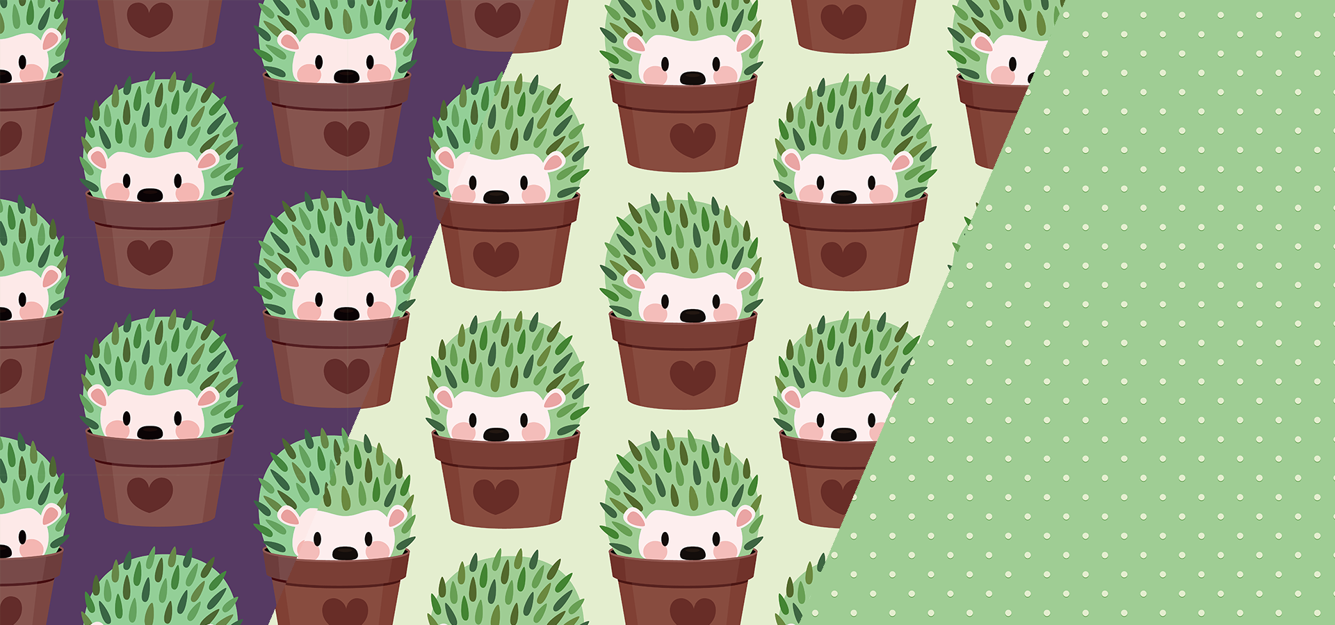 Hedgehog patterns collection