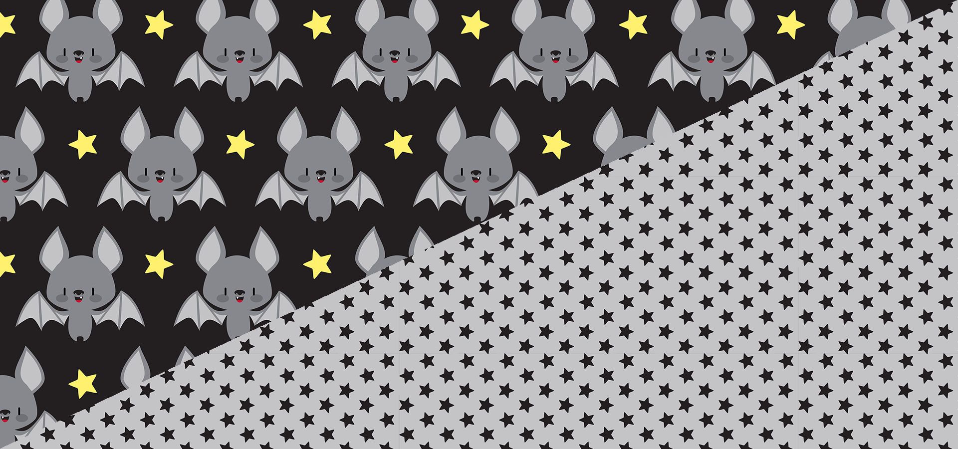 baby bats tiny stars patterns by petits pixels