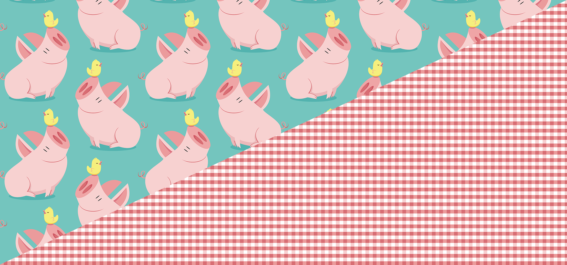 big pig little bird pattern collection