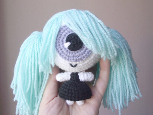 Cecilia the cyclops crochet doll