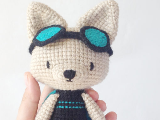 Charlotte the superhero amigurumi