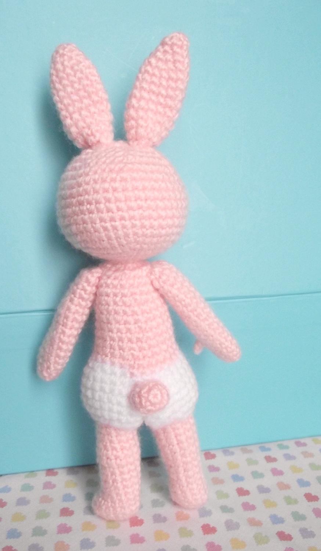 Chaussette le lapin au crochet 02
