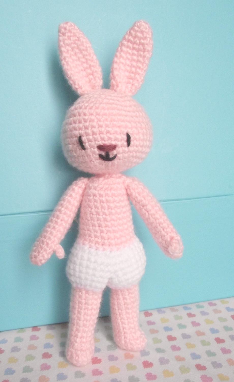Chaussette le lapin au crochet 03