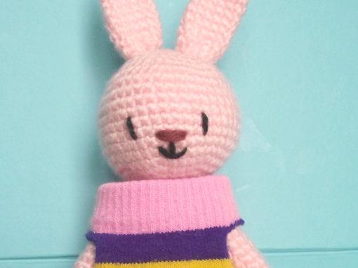 Chaussette the amigurumi bunny rabbit