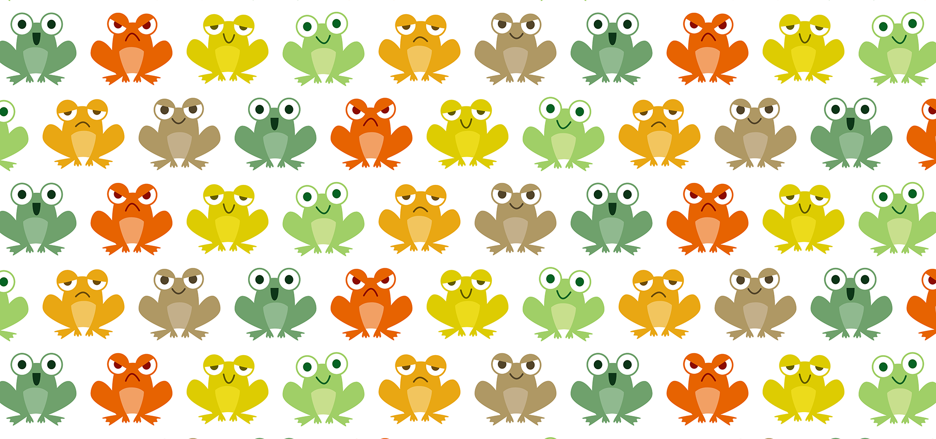 cute little frogs pattern