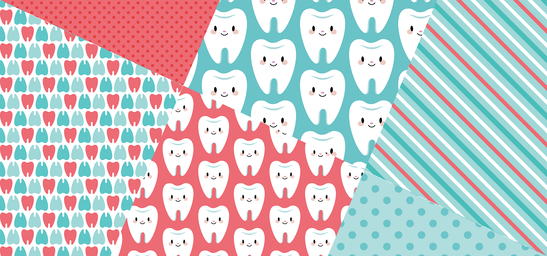 cute molar teeth patterns collection