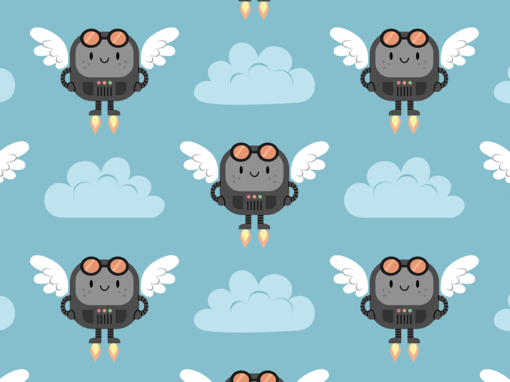 Cute flying robots