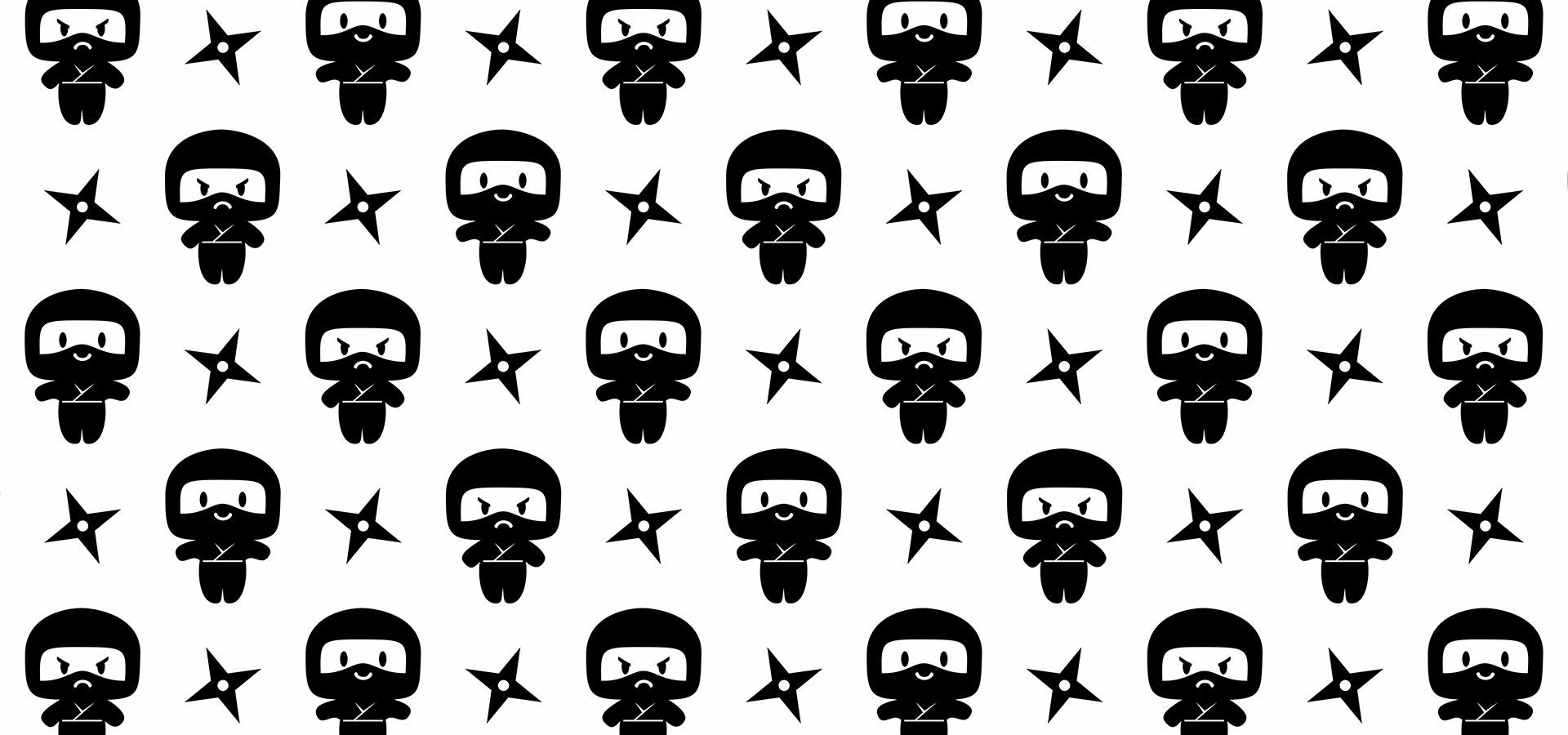 motif ninjas joyeux grognons petits pixels