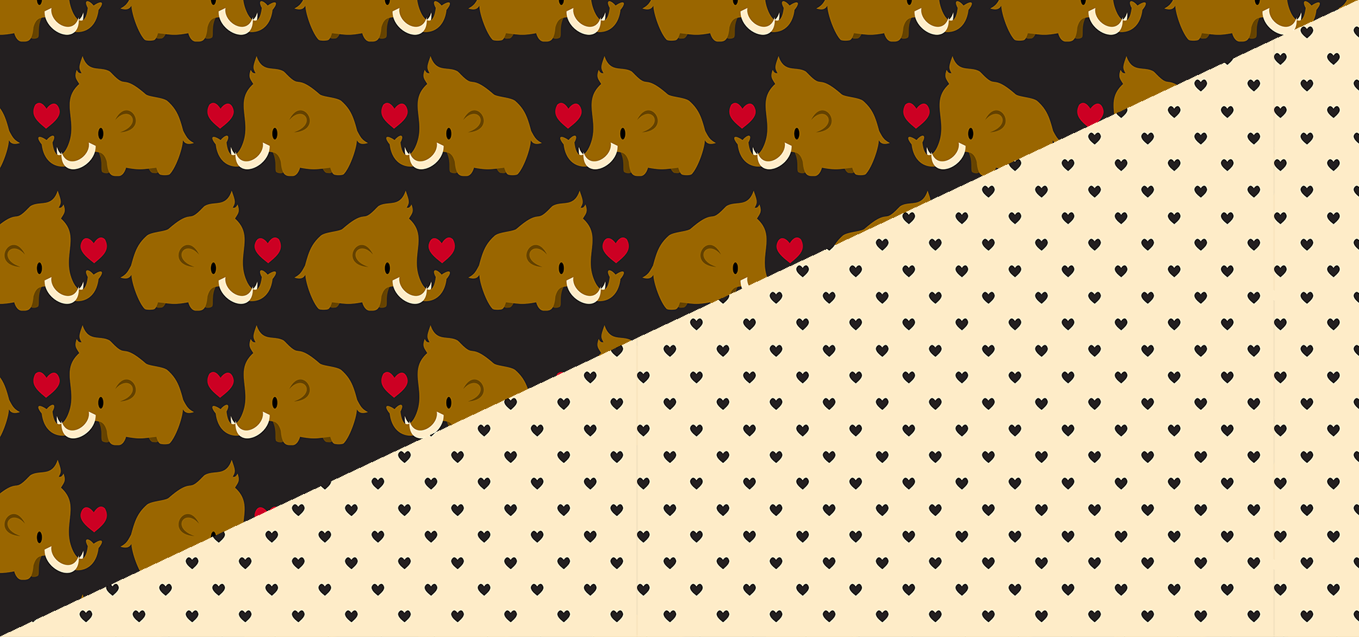 kawaii mammoths print collection
