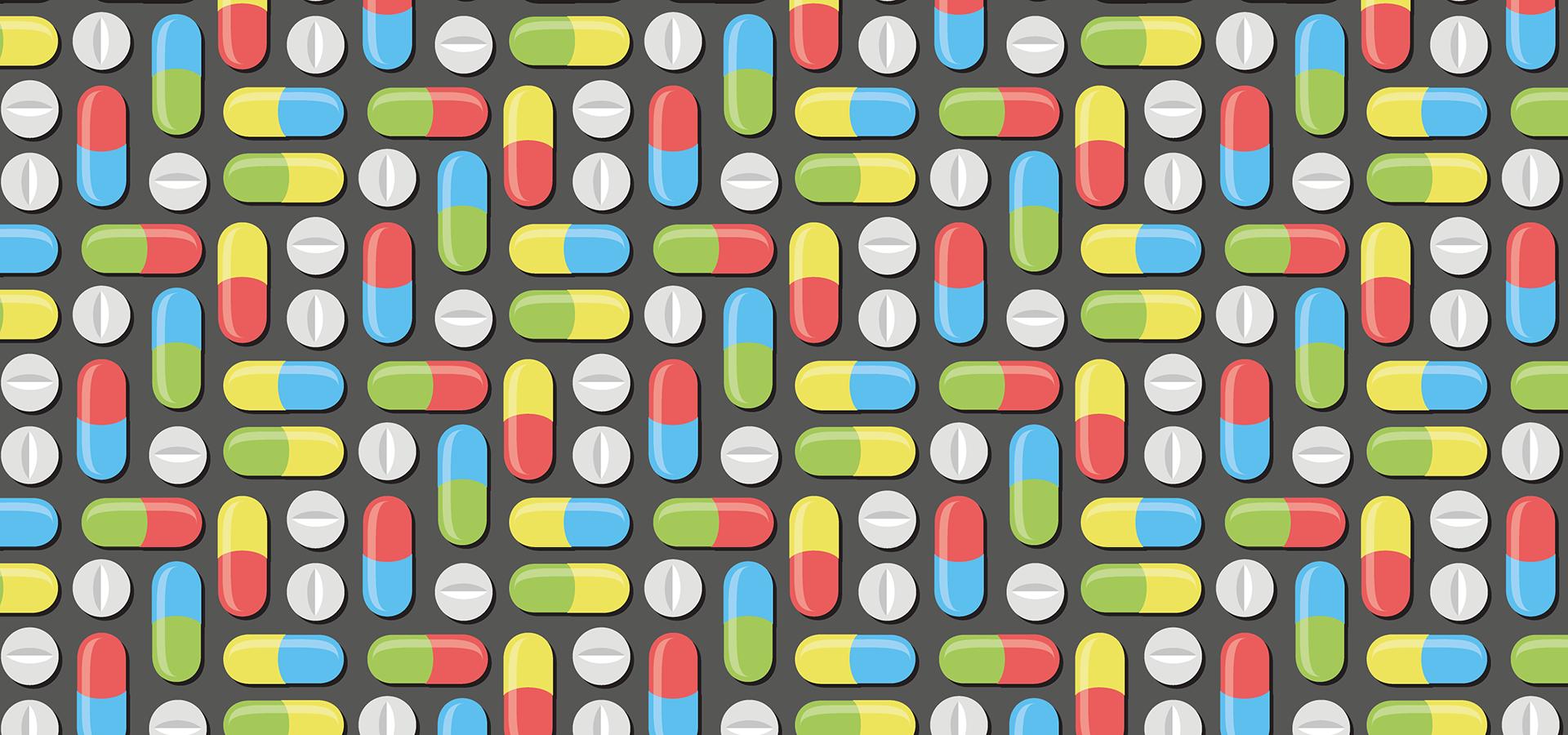 pills capsules pattern