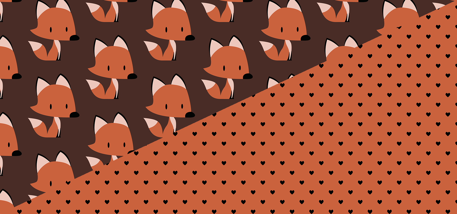 red fox print collection petits pixels