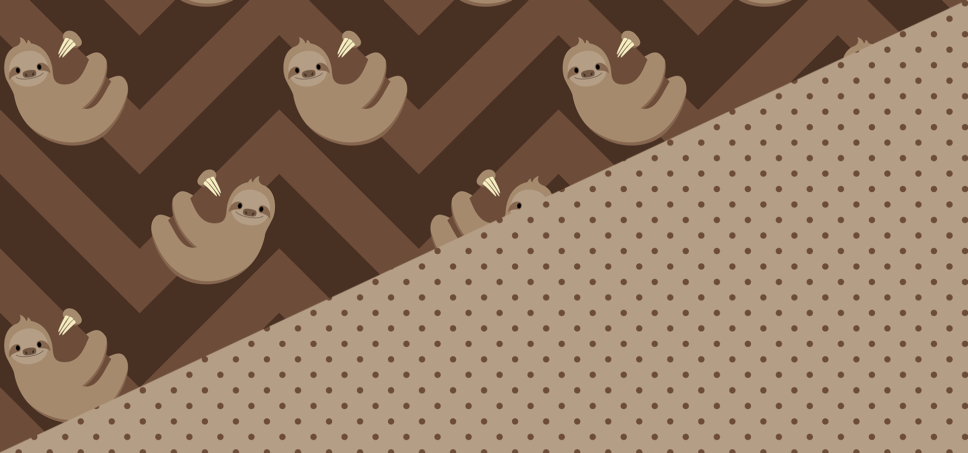 sloths and chevrons pattern collection
