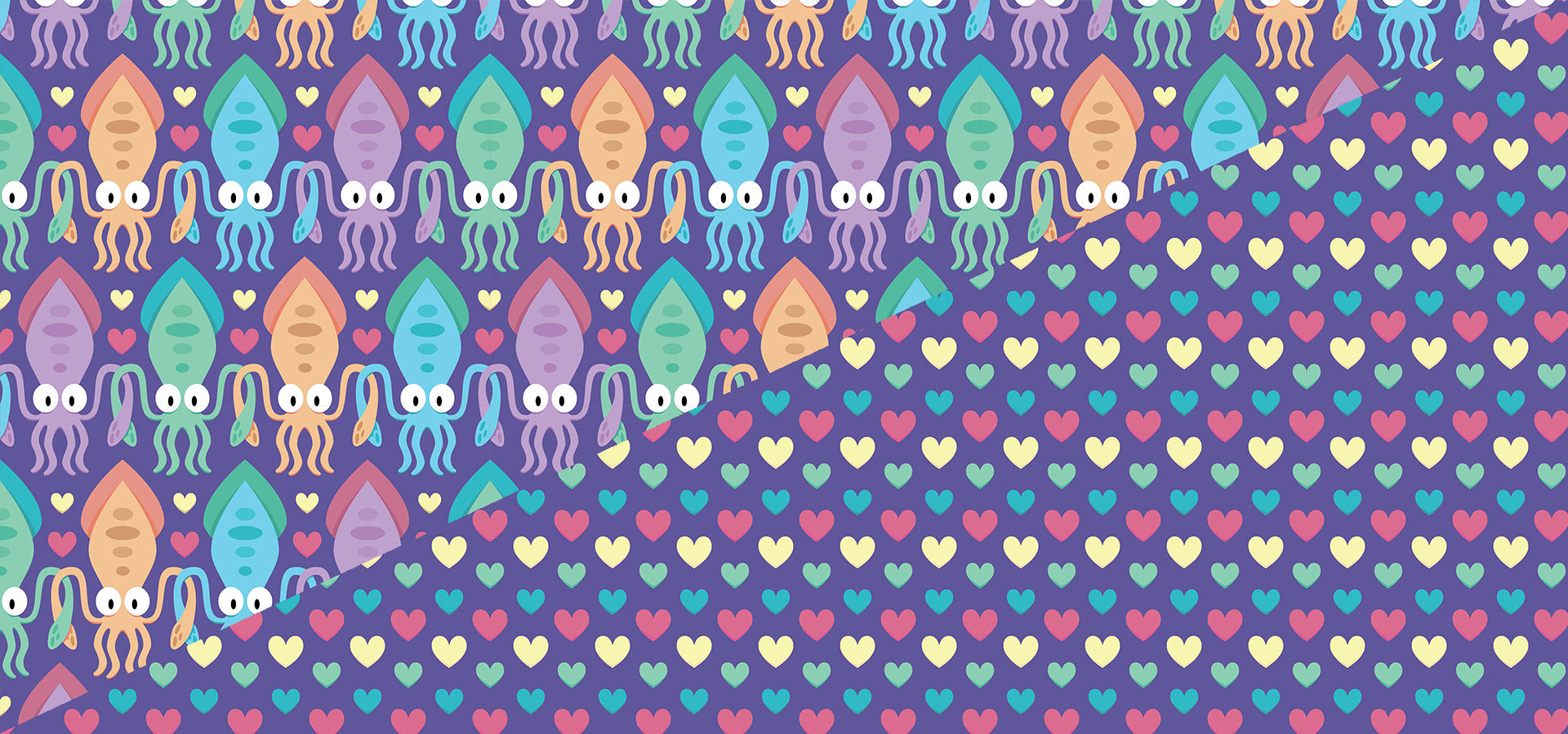 squid love pattern collection