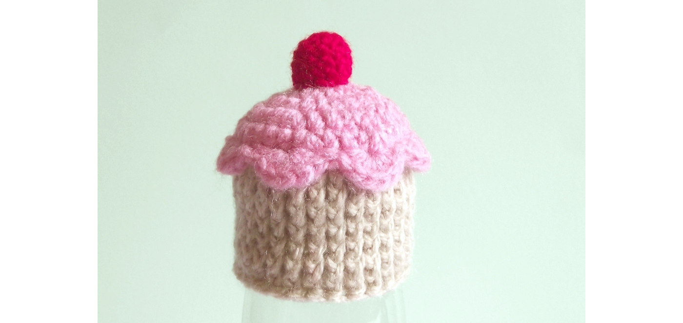tiny crochet cupcake hat