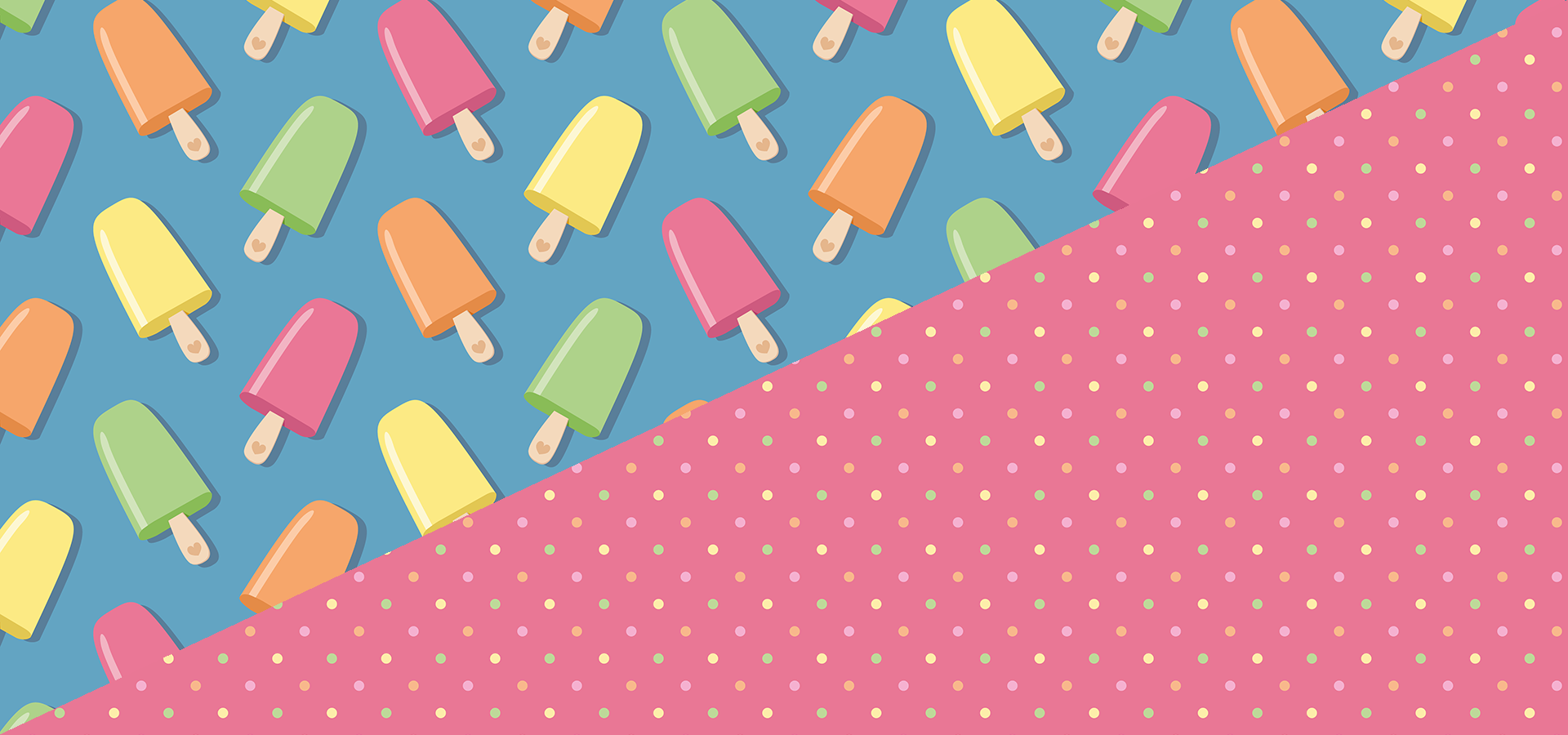 colorful popsicles pattern collection petits pixels