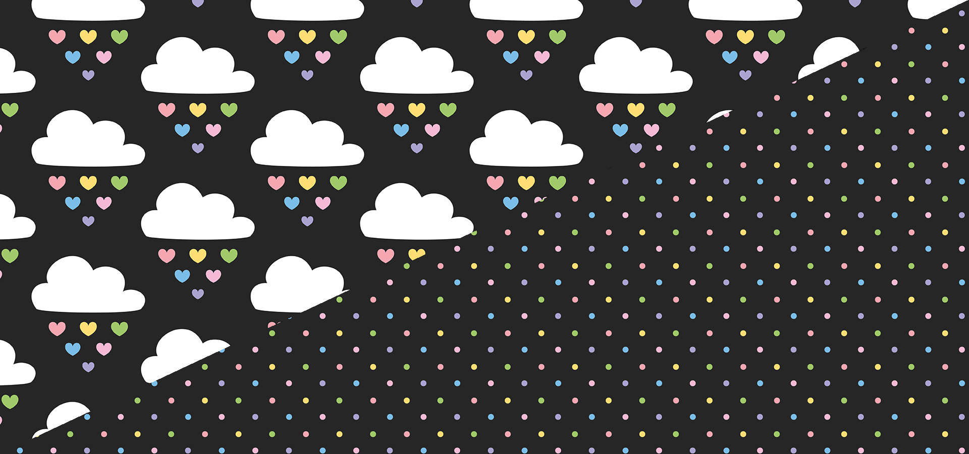 raining hearts pattern collection by petits pixels