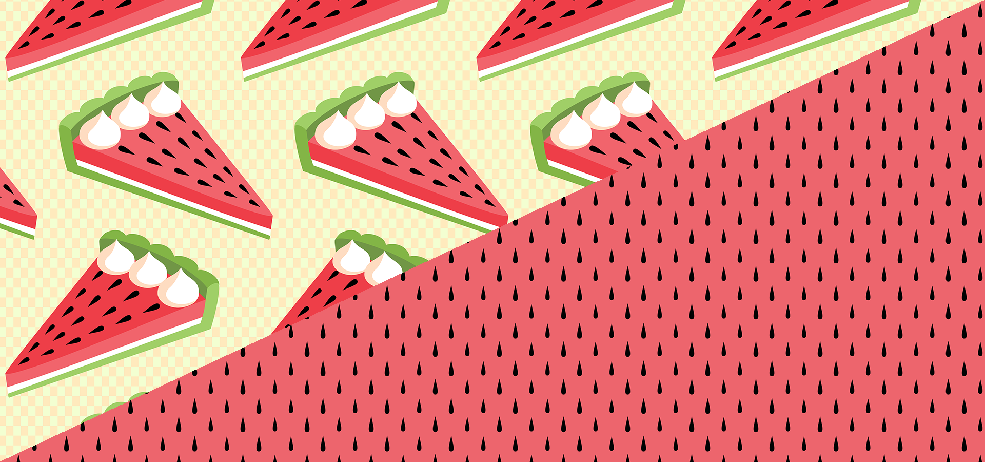 watermelon pie pattern collection by petits pixels