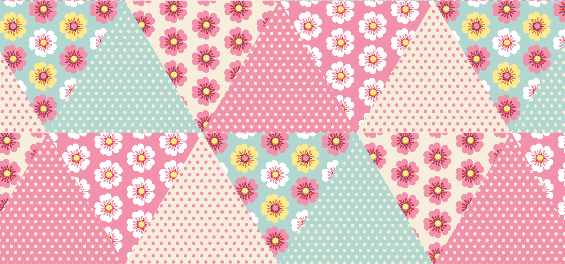 Spring flowers pattern collection - petits pixels