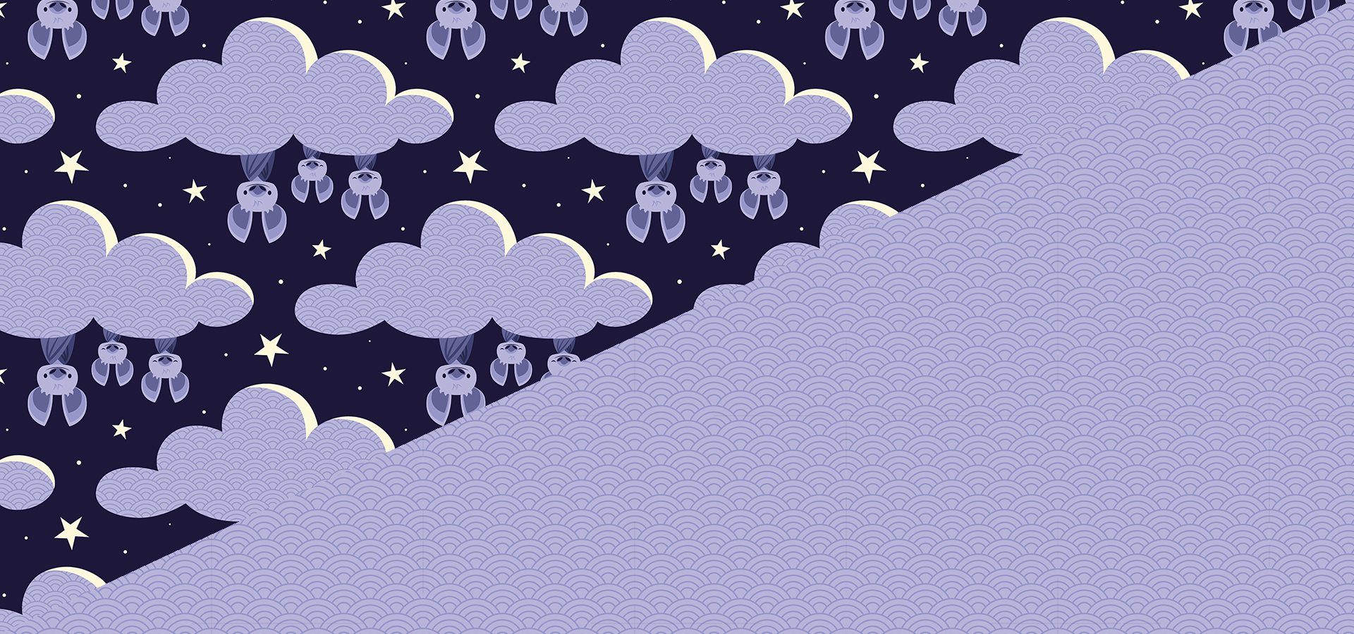 dreaming bats pattern collection petits pixels