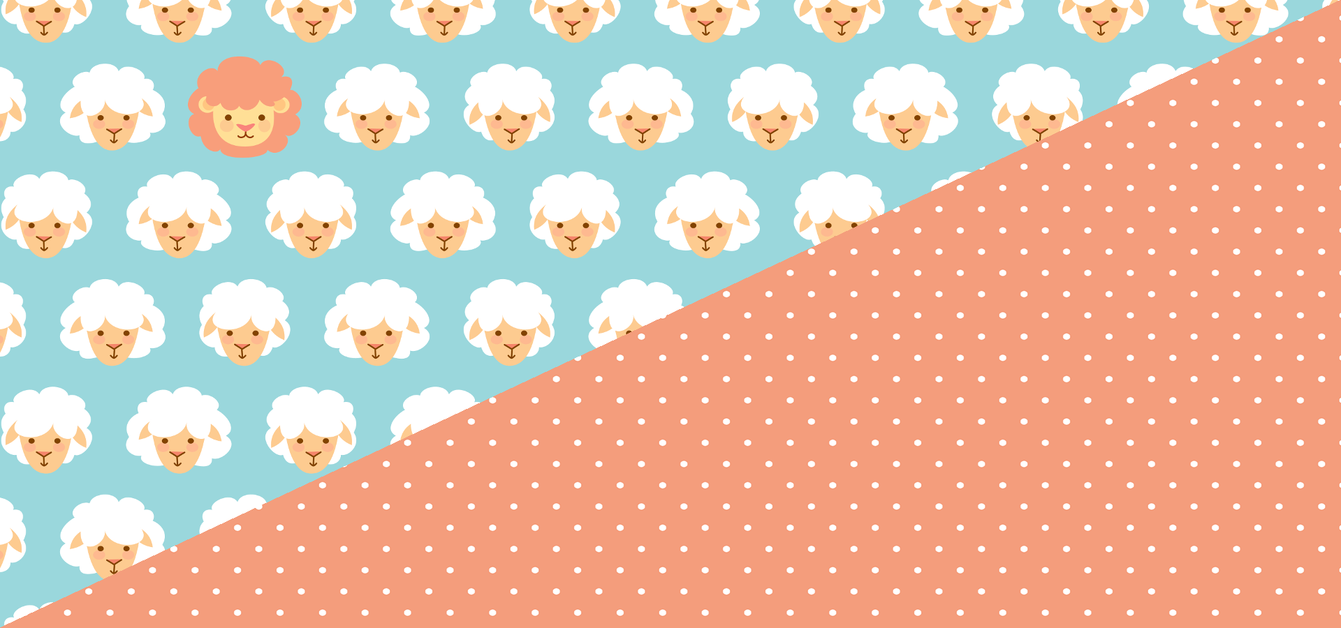 lion and lambs pattern collection - petits pixels
