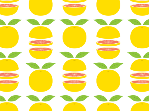 Yellow grapefruits