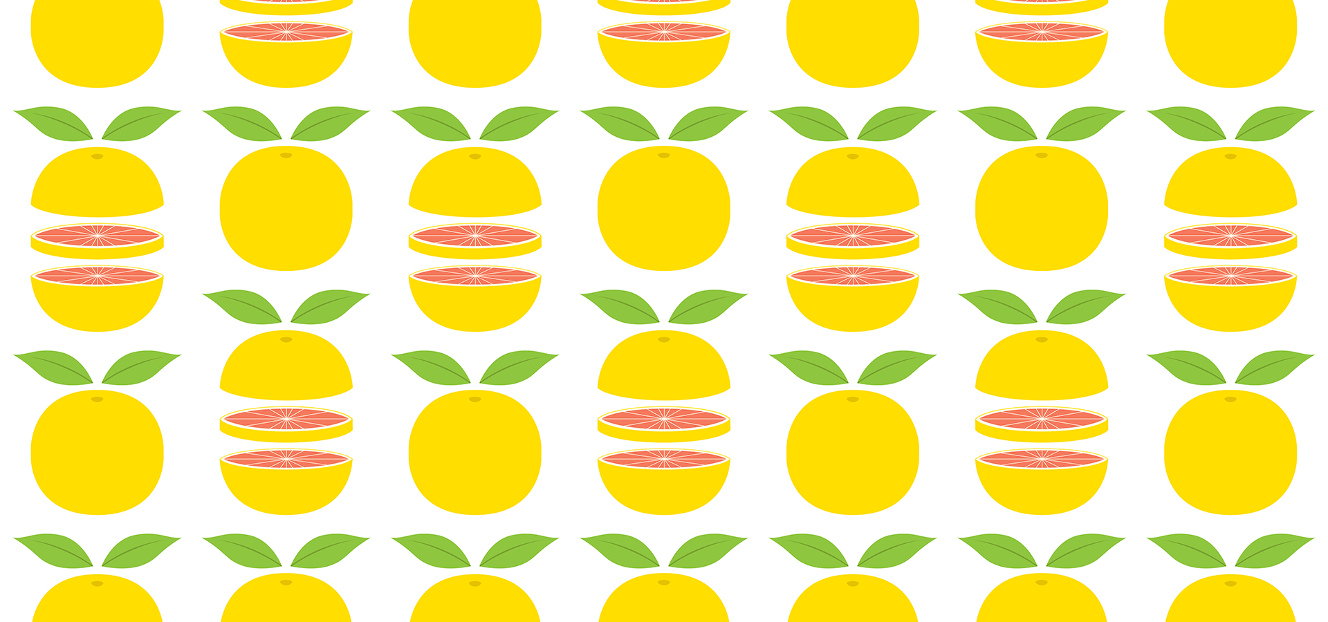 grapefruit pattern by petits pixels