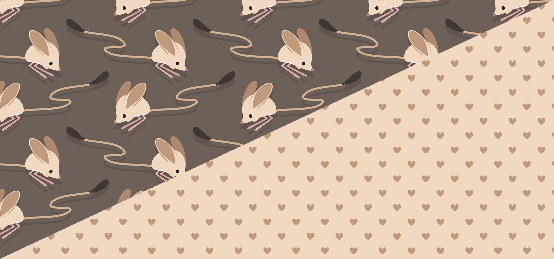Long eared jerboas pattern collection by Petits Pixels