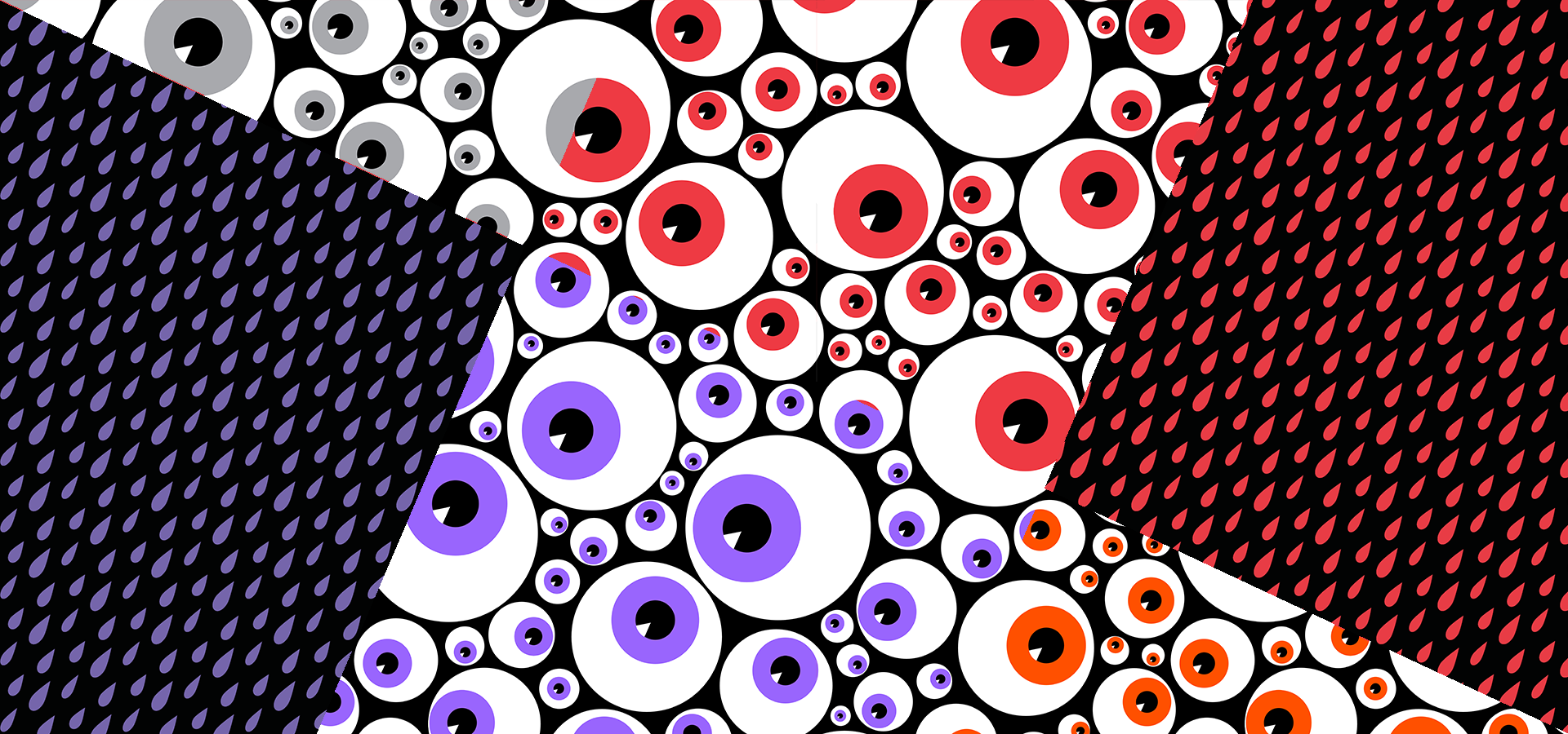 red eyeballs blood rain pattern collection petits pixels
