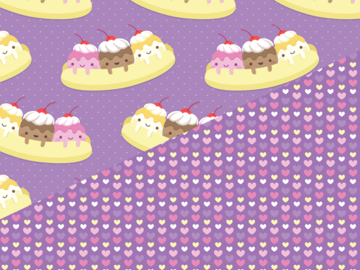 Banana split kawaii