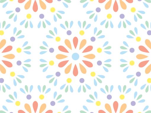 Fleurs géométriques pastel