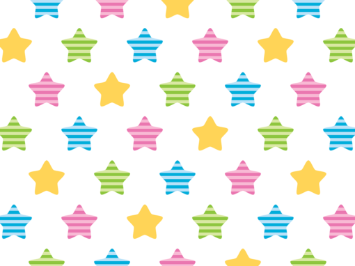 Colorful striped stars