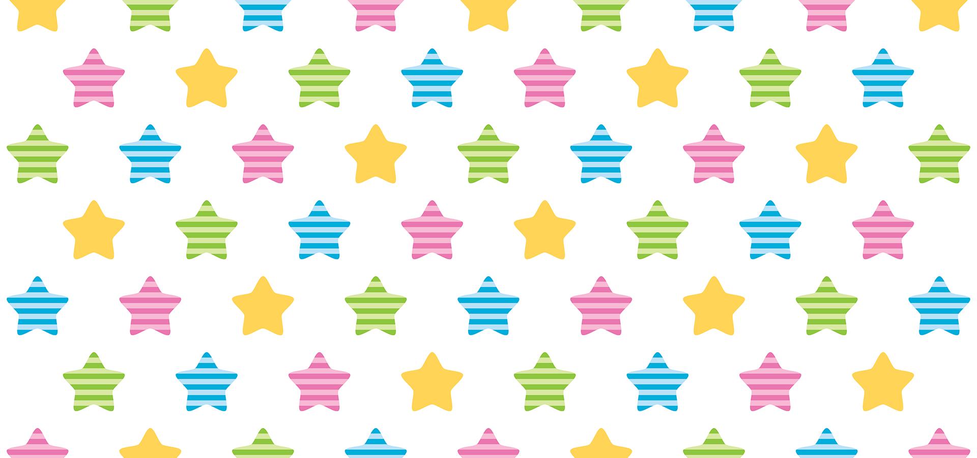 motif étoiles colorées à rayures