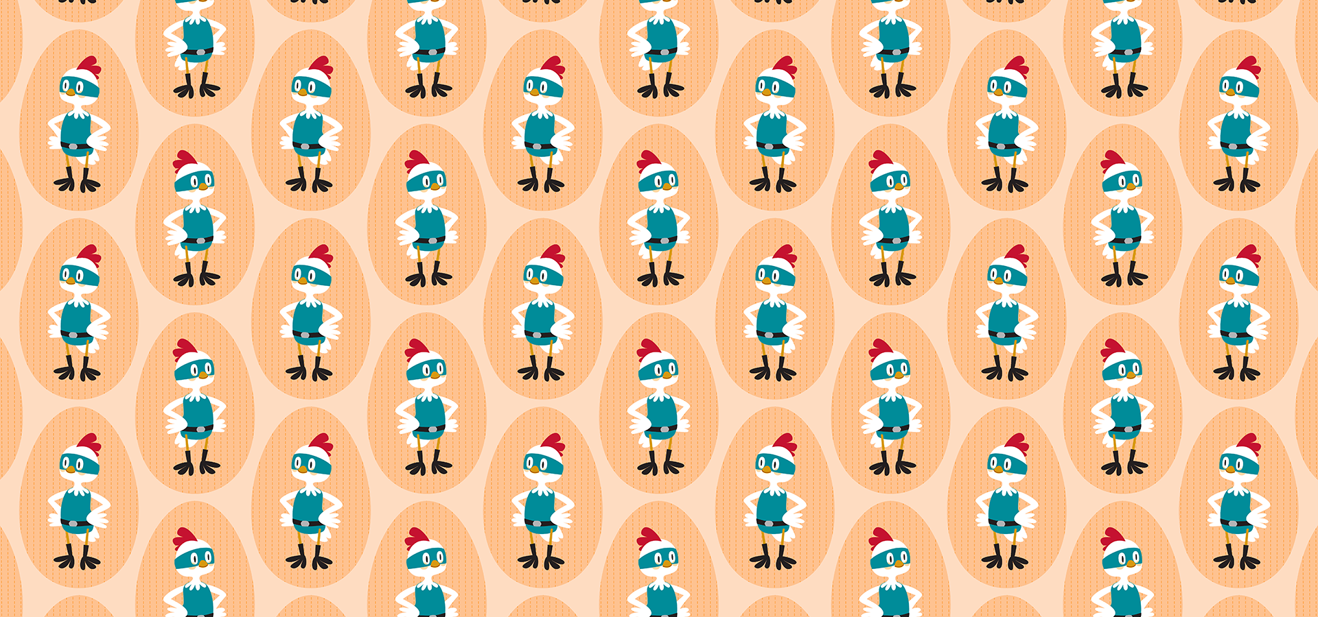 super chicken pattern petits pixels