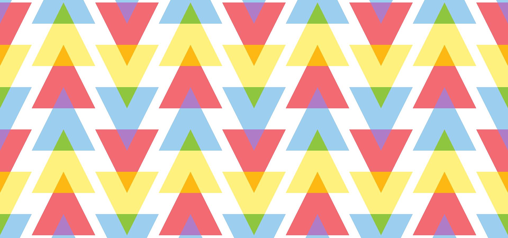 Motif triangles colorés