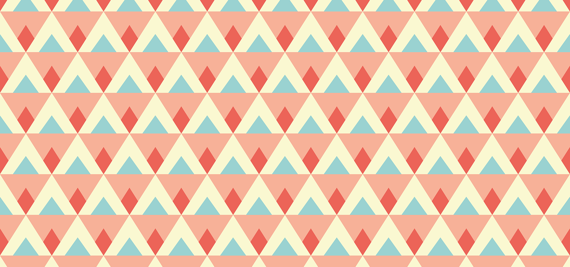 triangles diamonds pattern