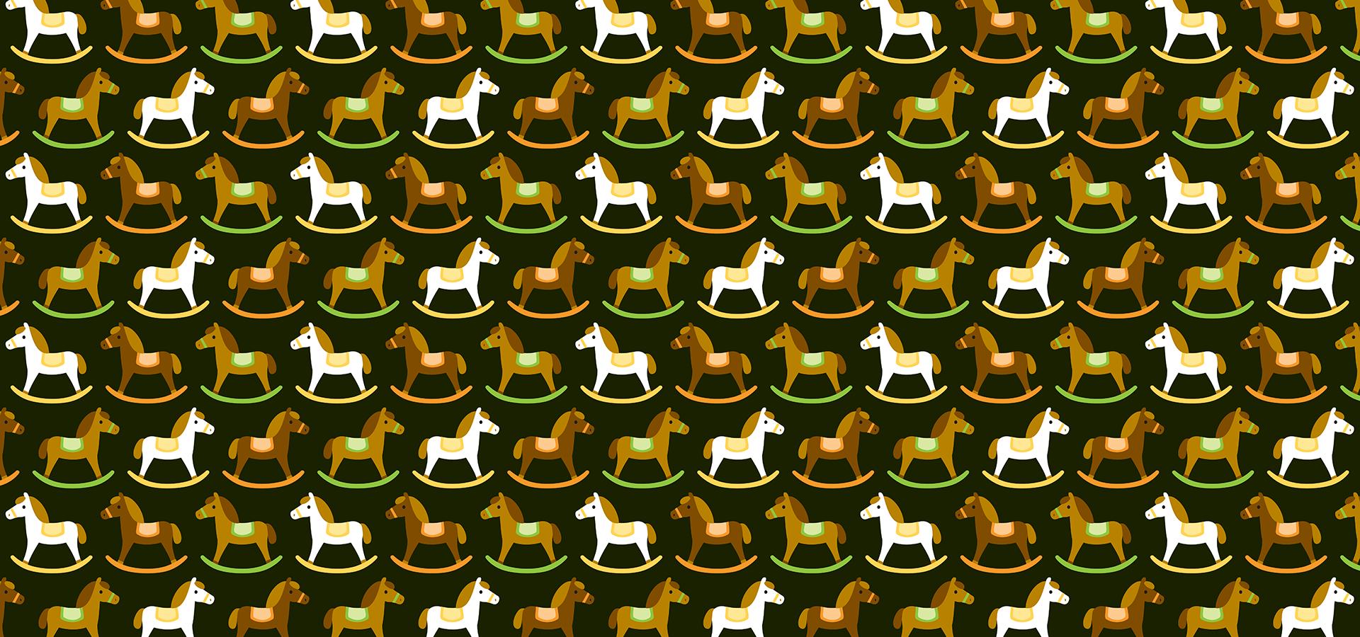 Motif chevaux à bascule