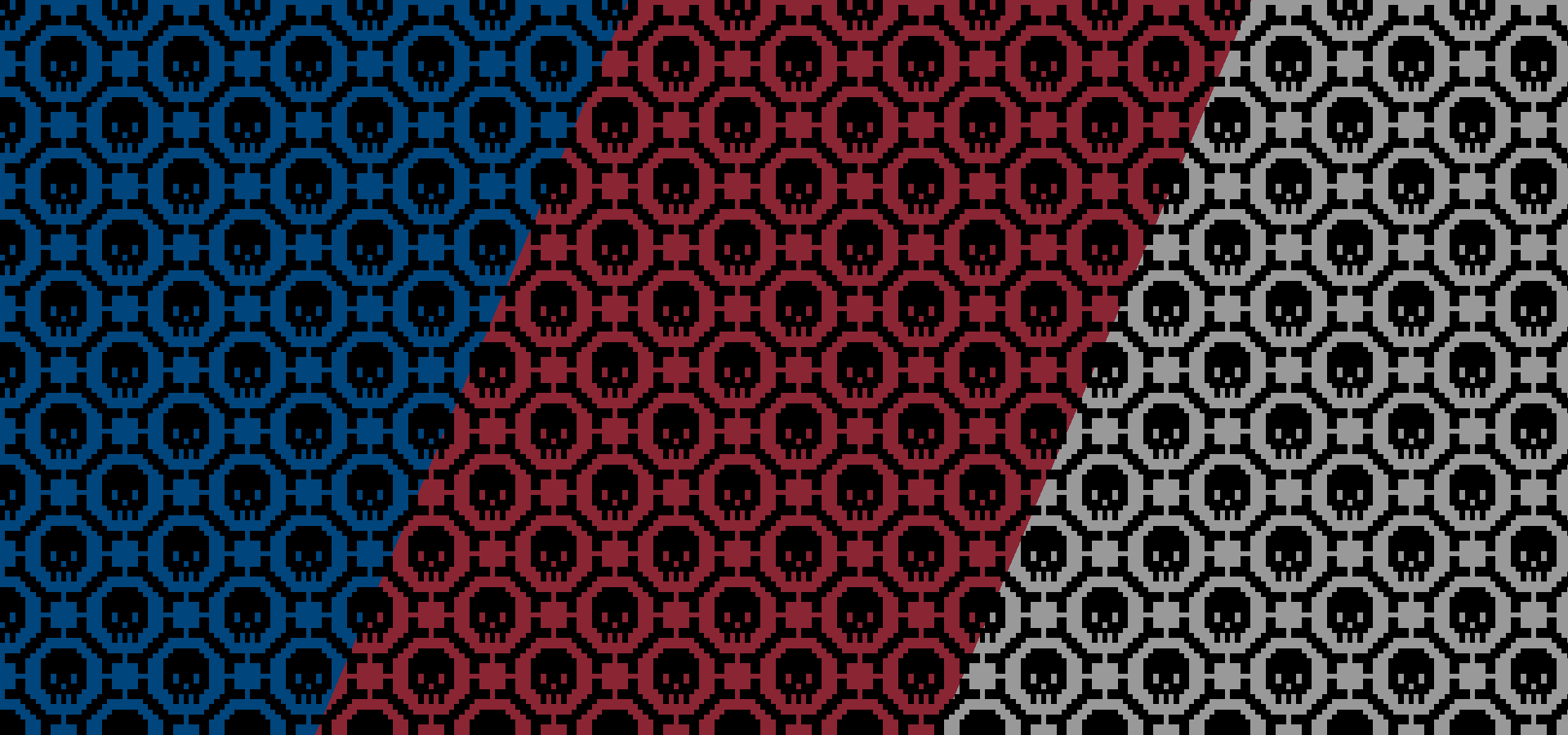 8 bit skulls and bones pattern collection