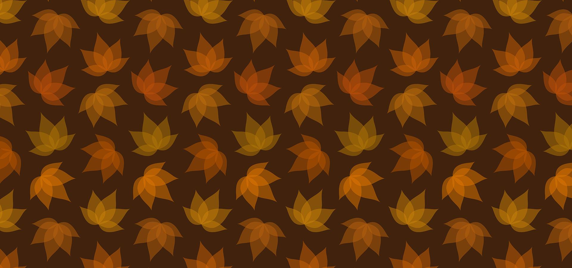 motif feuilles éthérées