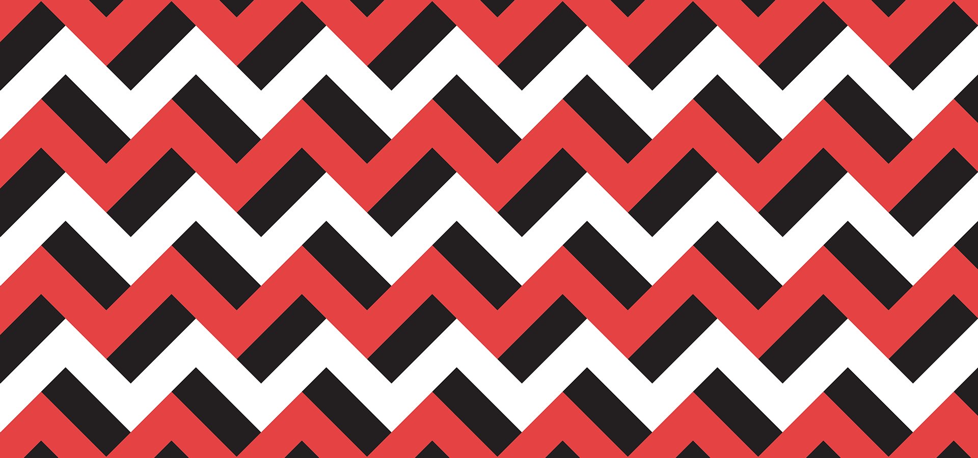 facc2e72545 Red black and white zigzags - Petits Pixels