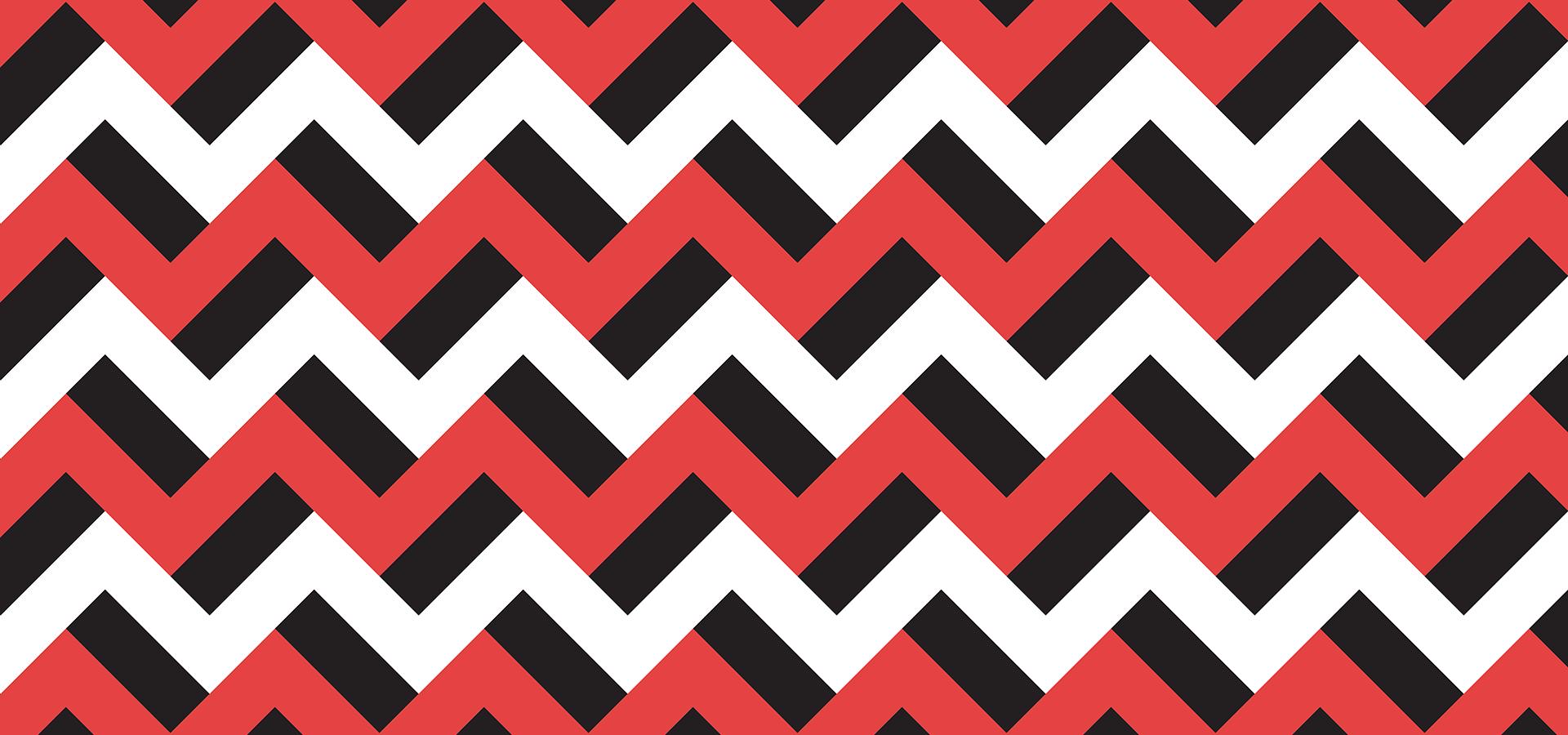 motif zigzags rouges noirs et blancs
