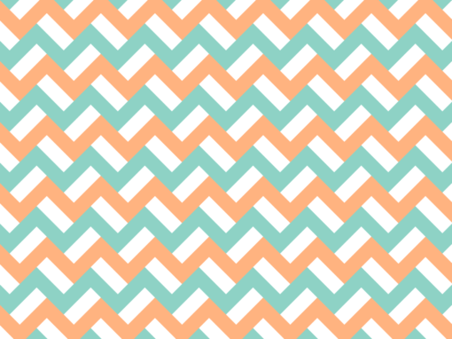 Orange and turquoise zigzags