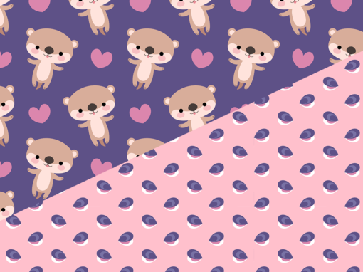 Kawaii otters
