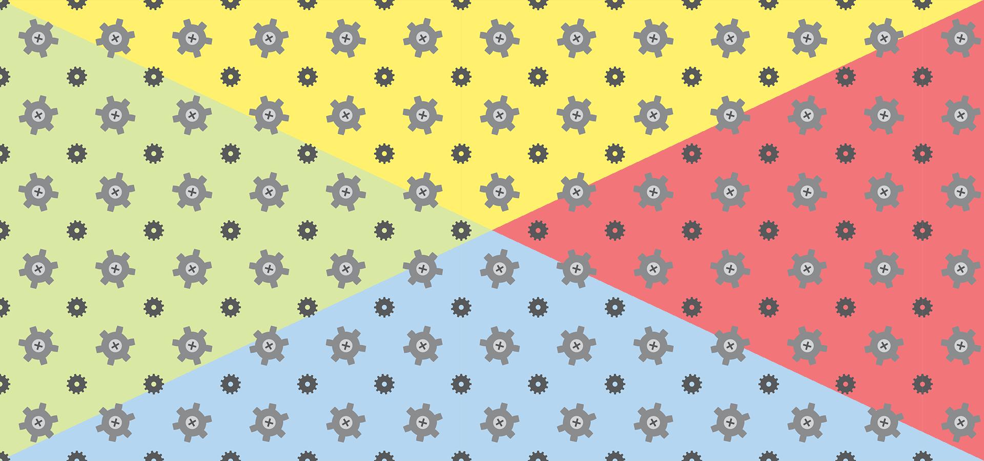 Collection de motifs petits rouages gris