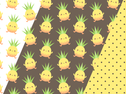 Happy pineapple kids
